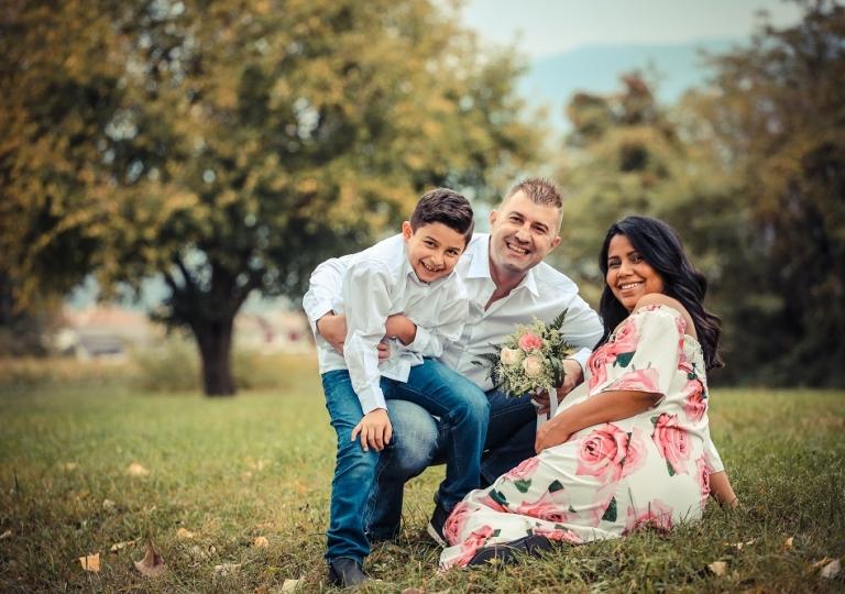 foto bordignon in famiglia servizio aspettando nove